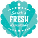 Lemonade Stand scallop hang tags