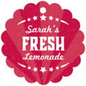 Lemonade Stand Scallop Hang Tag In Red