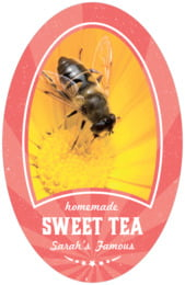 Lemonade Stand tall oval labels