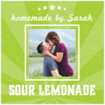 Lemonade Stand Square Label In Lime