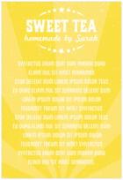 Lemonade Stand text labels