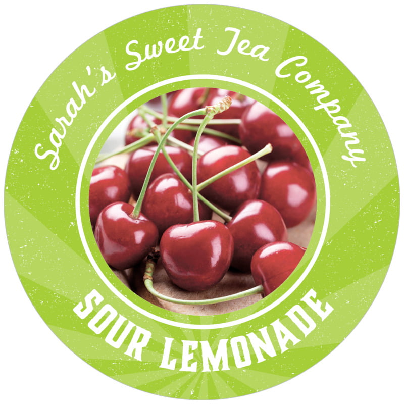 circle food/craft labels - lime - lemonade stand (set of 12)