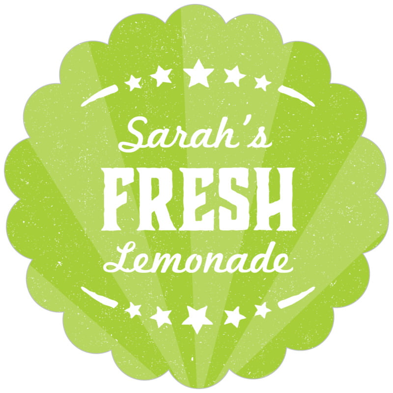 scallop food/craft labels - lime - lemonade stand (set of 20)