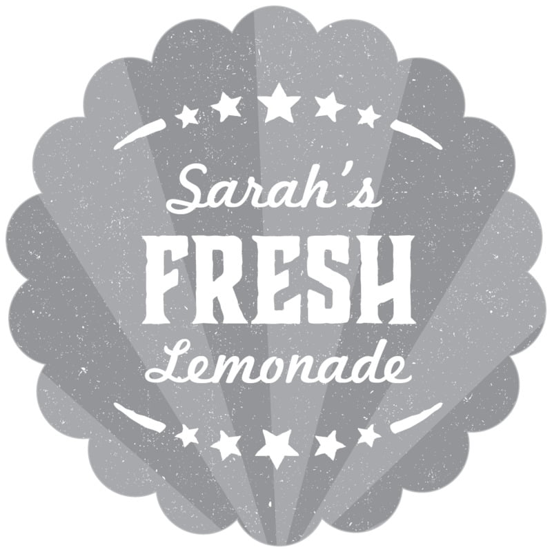 scallop food/craft labels - grey - lemonade stand (set of 20)