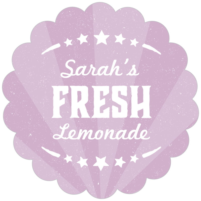 scallop food/craft labels - lilac - lemonade stand (set of 20)