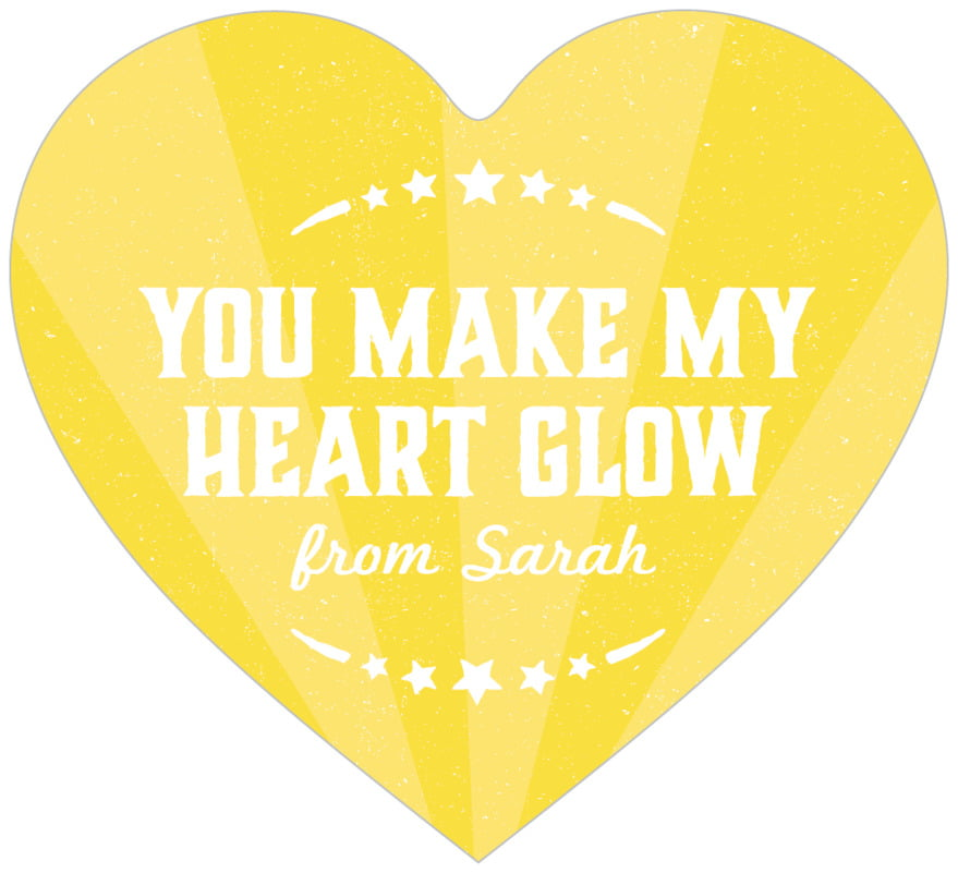 small heart food/craft labels - yellow - lemonade stand (set of 20)