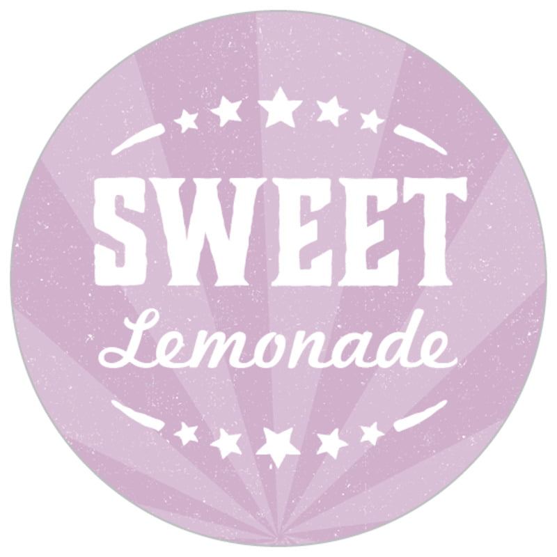 small circle food/craft labels - lilac - lemonade stand (set of 70)