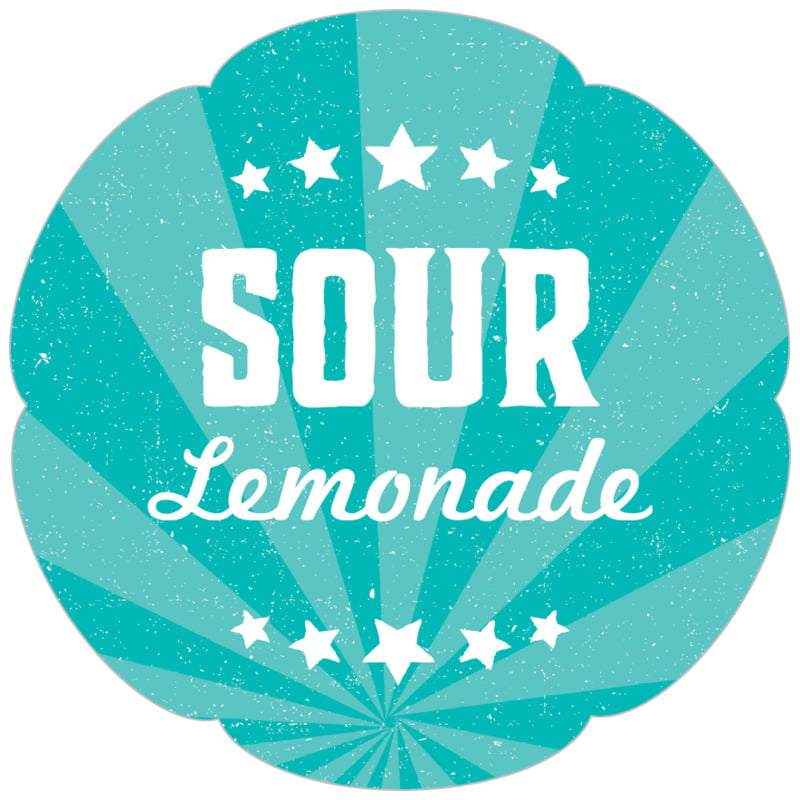 petal food/craft labels - turquoise - lemonade stand (set of 30)