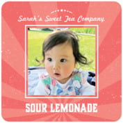 Lemonade Stand Square Coaster In Deep Coral