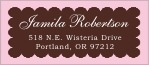 Luxe designer address labels