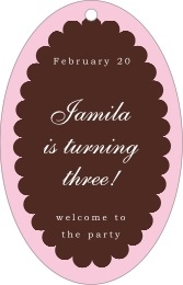 Luxe large oval hang tags
