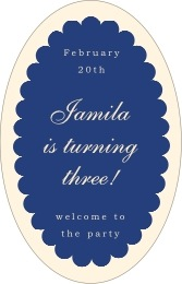 Luxe tall oval labels