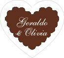 Luxe heart labels