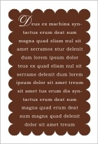 Luxe text labels