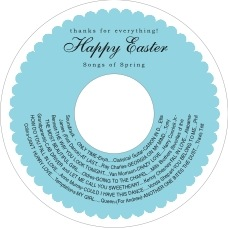 Luxe Cd Label In Bahama Blue
