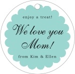 Luxe mother's day gift tags