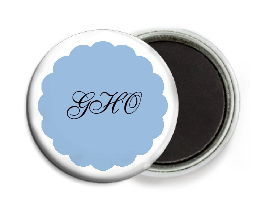 custom button magnets - blue - luxe (set of 6)