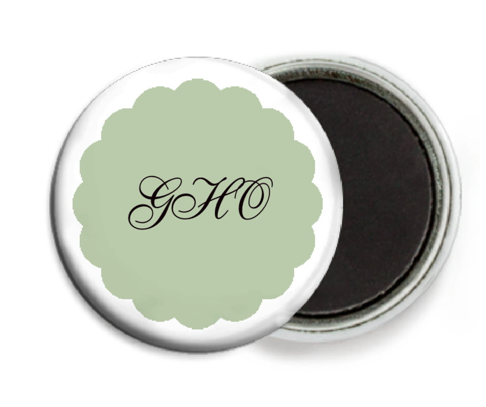 custom button magnets - sage - luxe (set of 6)