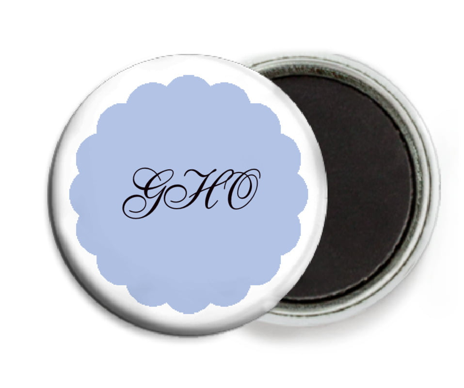 custom button magnets - periwinkle - luxe (set of 6)