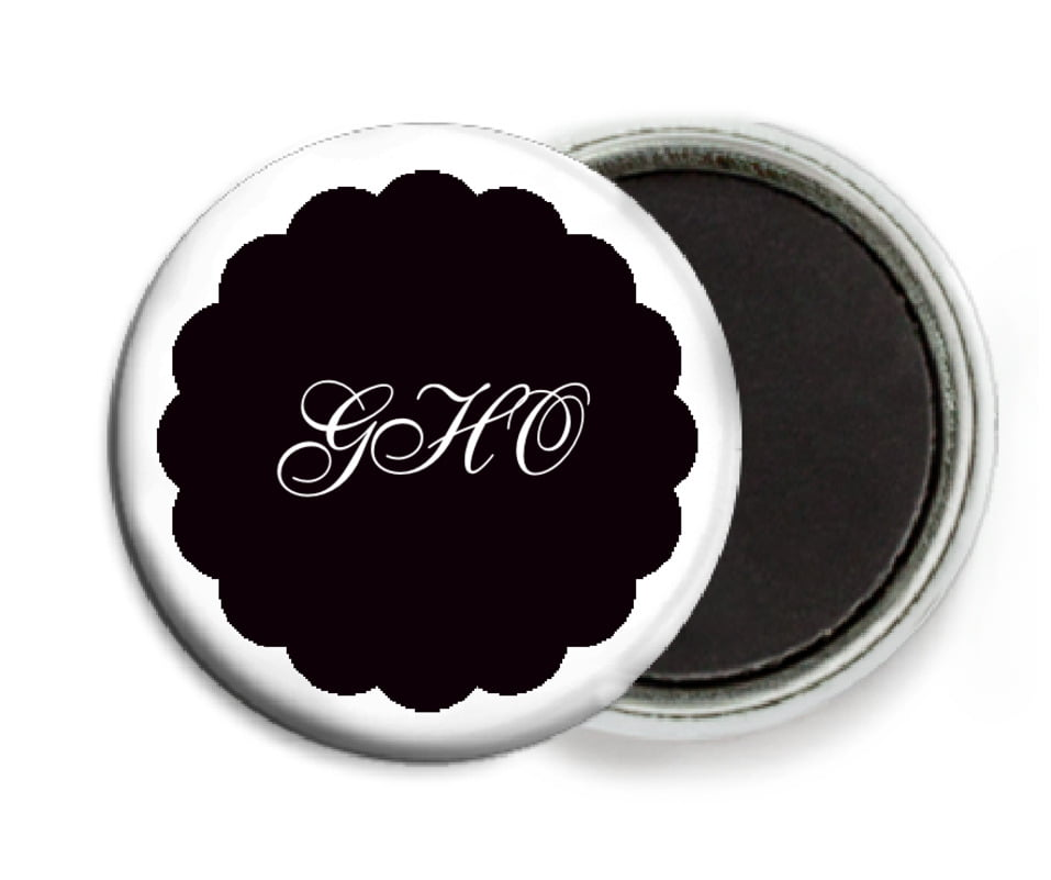 custom button magnets - tuxedo - luxe (set of 6)