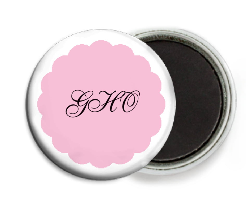 custom button magnets - pale pink - luxe (set of 6)