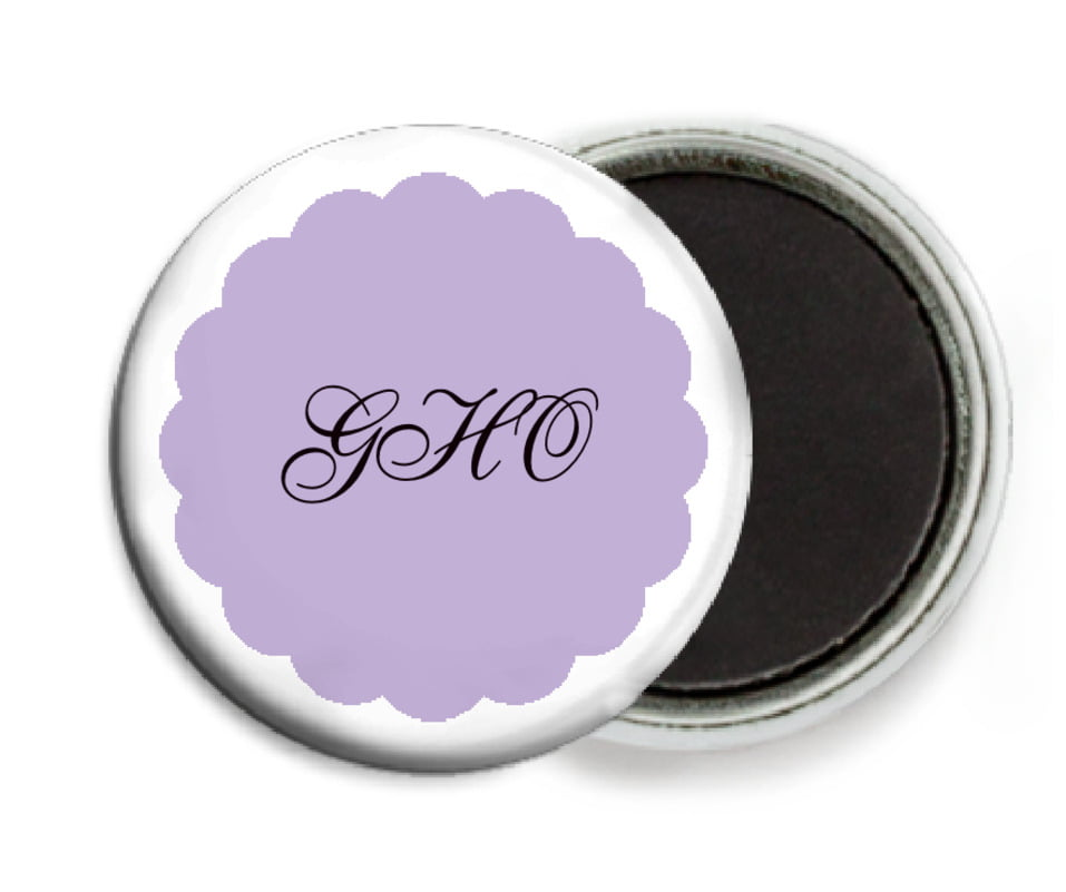 custom button magnets - lilac - luxe (set of 6)