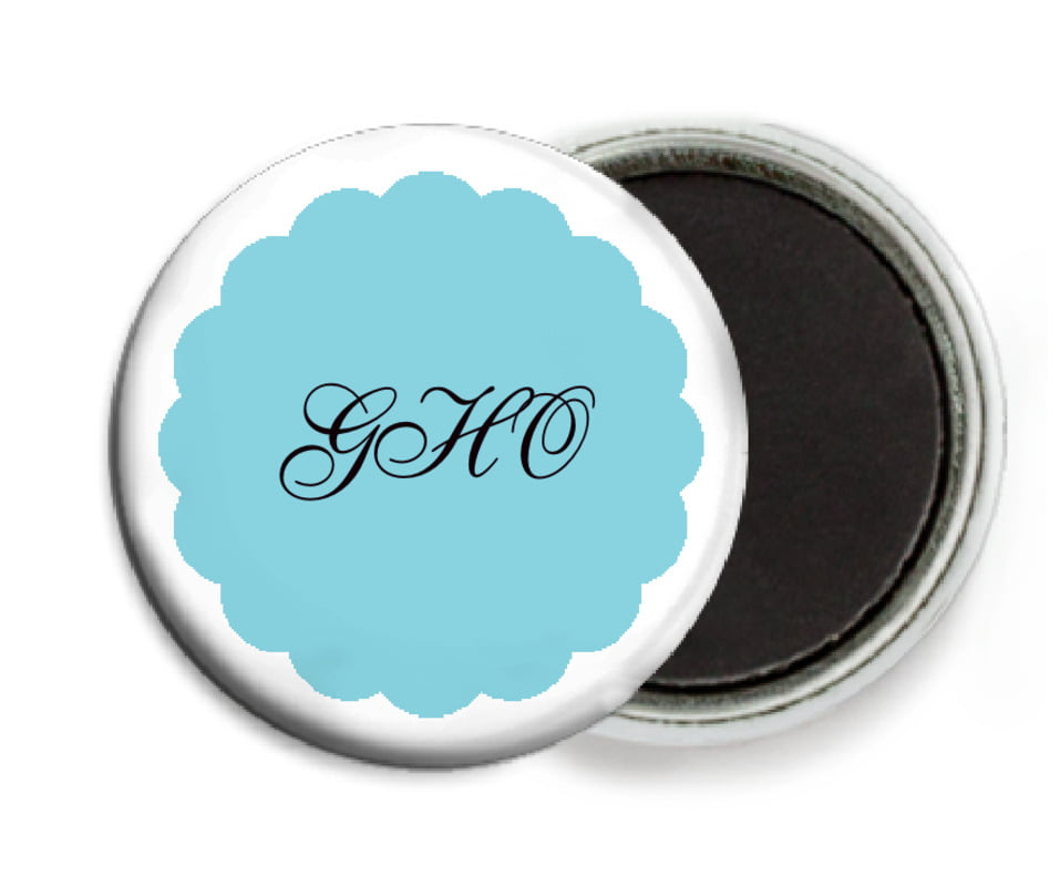 custom button magnets - bahama blue - luxe (set of 6)