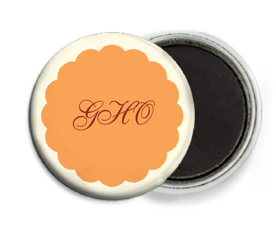 custom button magnets - tangerine - luxe (set of 6)