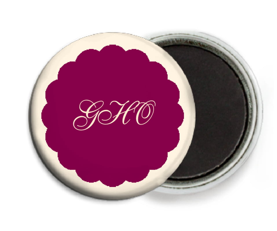 custom button magnets - burgundy - luxe (set of 6)