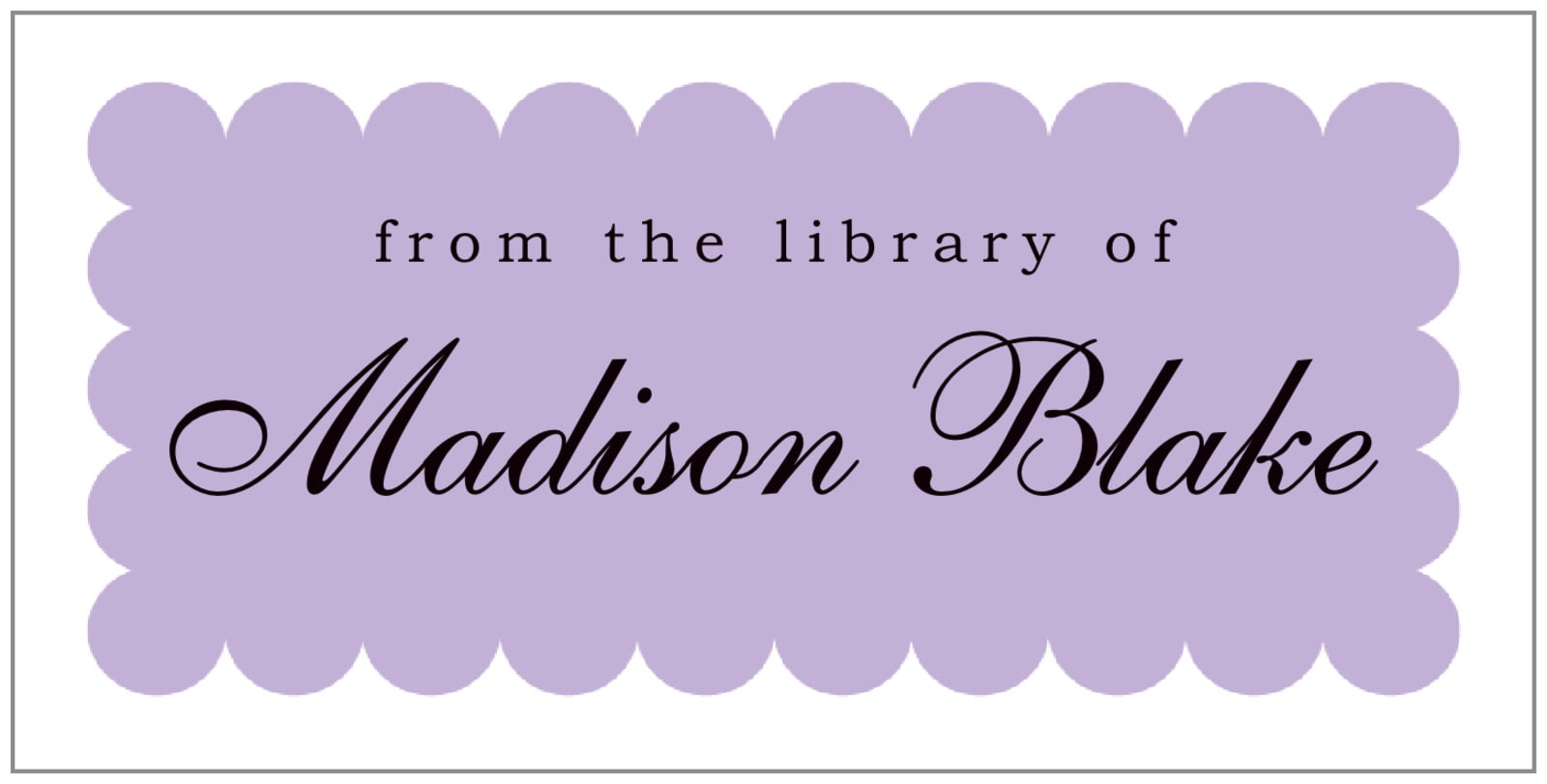 bookplates for everyone - lilac - luxe (set of 24)