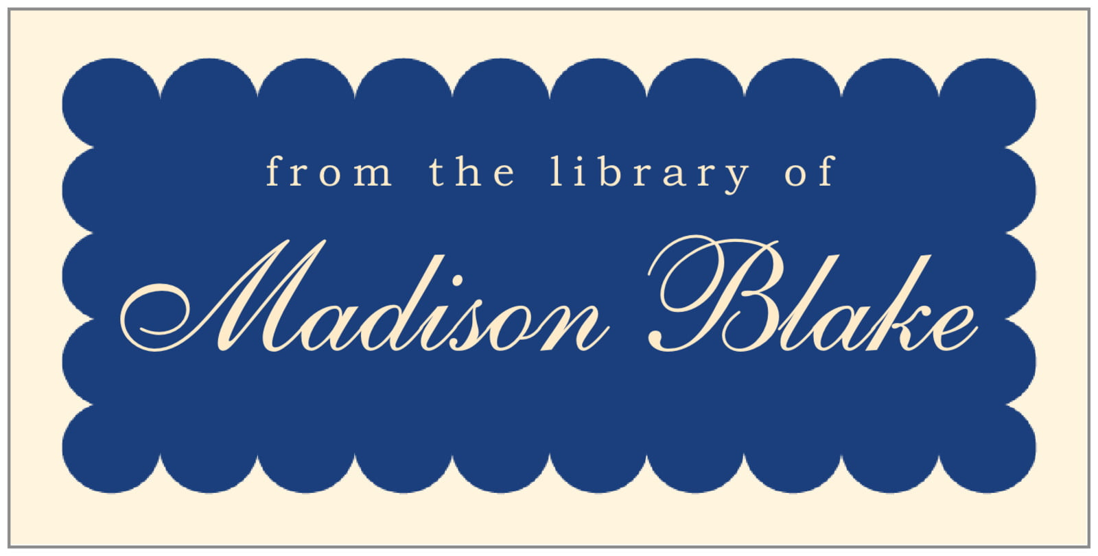 bookplates for everyone - deep blue - luxe (set of 24)