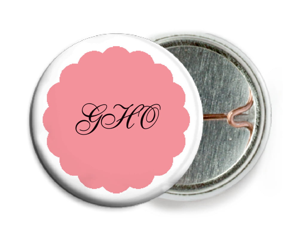 custom pin back buttons - grapefruit - luxe (set of 6)