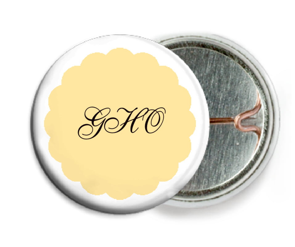 custom pin back buttons - sunburst - luxe (set of 6)