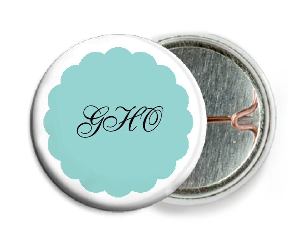 custom pin back buttons - aruba - luxe (set of 6)