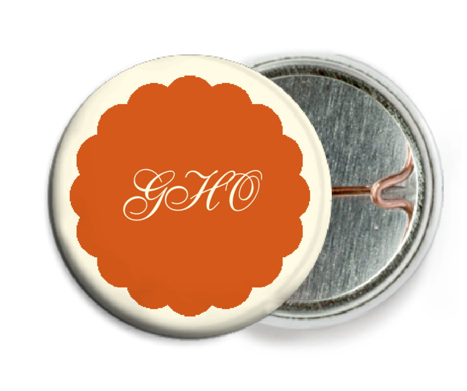 custom pin back buttons - spice - luxe (set of 6)