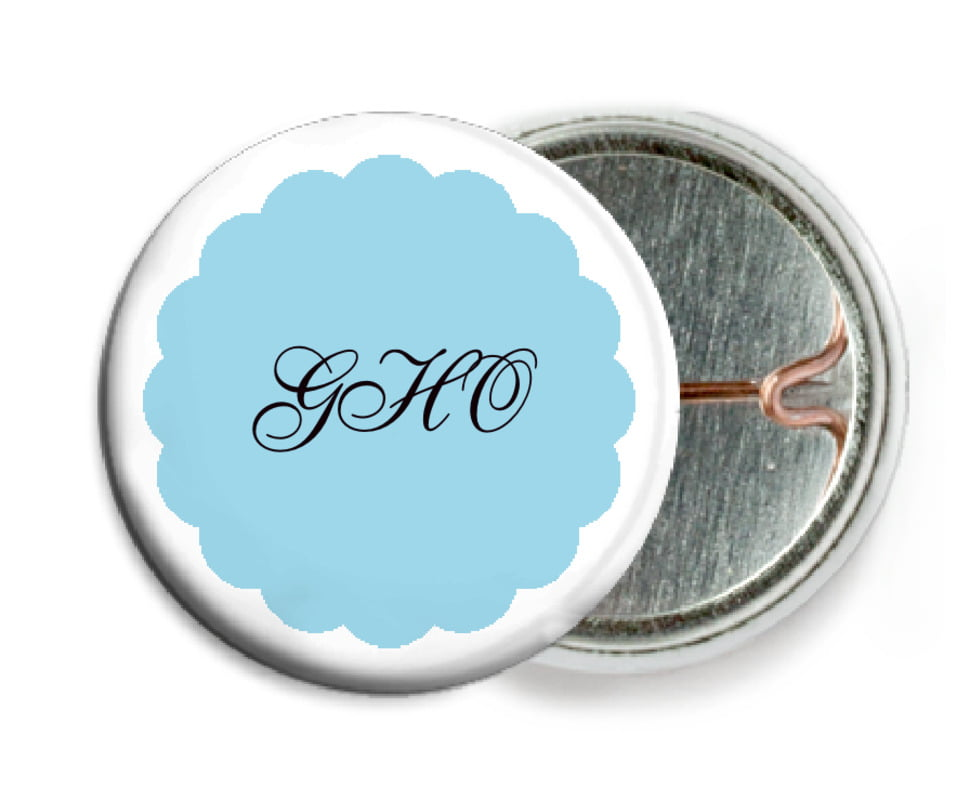 custom pin back buttons - sky - luxe (set of 6)
