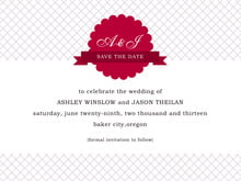 custom save-the-date cards - deep red - luxe (set of 10)
