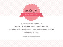 custom save-the-date cards - grapefruit - luxe (set of 10)