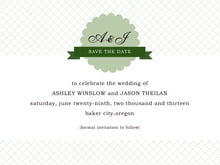 custom save-the-date cards - sage - luxe (set of 10)
