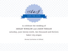 custom save-the-date cards - periwinkle - luxe (set of 10)