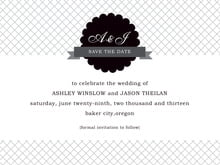 custom save-the-date cards - tuxedo - luxe (set of 10)