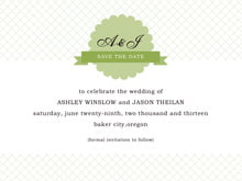 custom save-the-date cards - green tea - luxe (set of 10)