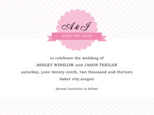 custom save-the-date cards - pale pink - luxe (set of 10)