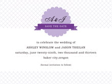 custom save-the-date cards - lilac - luxe (set of 10)