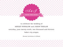 custom save-the-date cards - bright pink - luxe (set of 10)