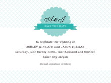 custom save-the-date cards - aruba - luxe (set of 10)