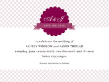 custom save-the-date cards - burgundy - luxe (set of 10)