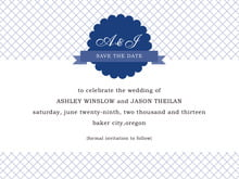 custom save-the-date cards - deep blue - luxe (set of 10)