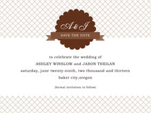 custom save-the-date cards - chocolate - luxe (set of 10)