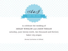 custom save-the-date cards - sky - luxe (set of 10)